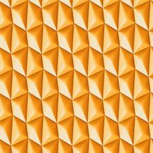 Bright orange 3d geometric shapes wallpaper