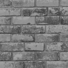 Dark Grey Brick Wallpaper