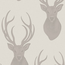 Beaded beige and taupe stag Wallpaper