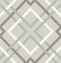 Soft blue and grey diagonal tartan wallpaper