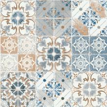 Orange And Blue Spanish Tile Wallpaper
