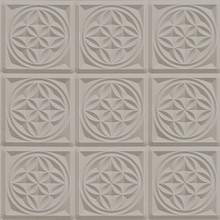 Taupe 3D Ornate Tile Effect Wallpaper