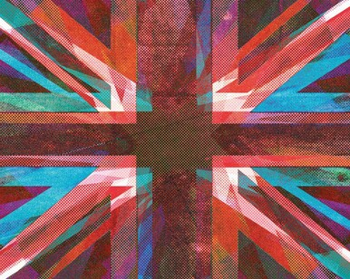 Union Jack Retro Style Mural Wallpaper