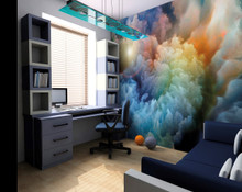 Multi Stormy Clouds Wall Mural in Room