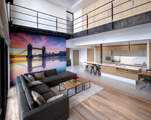 London Tower Bridge Wall Mural in Room