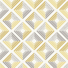 Grey and Yellow Retro Diamond Wallpaper