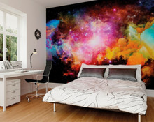Multi Space Galaxy Wall Mural in Room