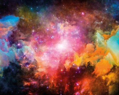 Multi Galaxy Stars Space Theme Mural Wallpaper