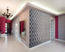 Silver Metal Floor Wall Mural in Room