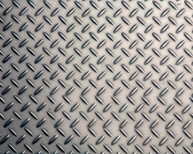Silver Floor Tread Effect Mural Wallpaper