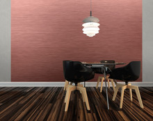 Rose Gold Metal Wall Mural in Room