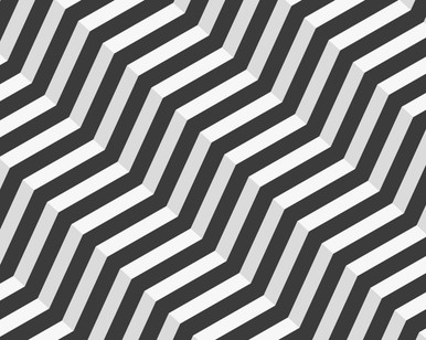 Black and White Zigzag 3D Mural Wallpaper