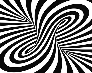 3D Black and White Twisted Vortex Mural Wallpaper