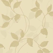 Gold Leaf Trail on Heavy Vinyl Wallpaper