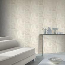Beige Buddha Tiles Wallpaper in Bathroom
