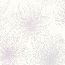 Grey and Pink Glitter Spider Flower Wallpaper