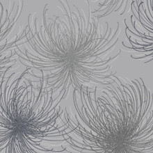 Silver and Grey Glitter Spider Flower Wallpaper
