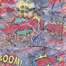 Multi Comic Book Design on Stone Wallpaper