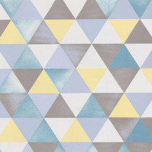 Blue, Grey and Yellow Triangles Wallpaper