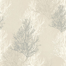 White and Silver Glitter Trees Wallpaper