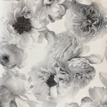 Black and Silver Traditional Floral Wallpaper with Glitter