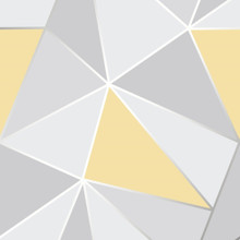Grey and Yellow Geometric Wallpaper