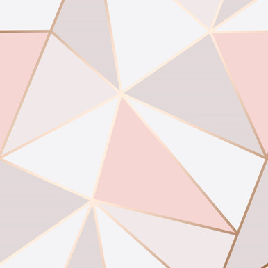 Pink and Rose Gold Geometric Wallpaper