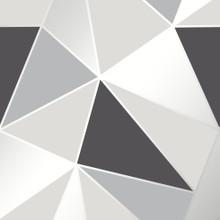 Black Silver and Grey Geometric Wallpaper