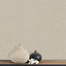 Beige Sequin Effect Wallpaper on Wall