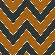 Glitter Orange and Black Chevron Wallpaper
