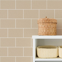 Taupe Large Bathroom Tile Wallpaper With Gold Glitter