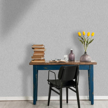 Grey Glitter Animal Print Wallpaper in Room