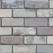 Pastel Grey 3D Brick Wallpaper