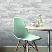 Light Grey Glitter Slate Wallpaper in Room