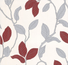 Red and Silver Leaf Trail Wallpaper