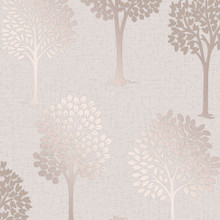 Light Stone and Rose Gold Trees Wallpaper