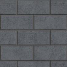 Versace Dark Grey Greek Key Brick Tile Wallpaper