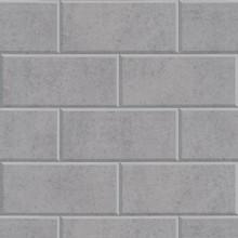 Versace Grey Greek Key Brick Tile Wallpaper