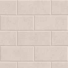 Versace Mink Greek Key Brick Tile Wallpaper