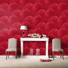 Luxury Large Red Rose Wallpaper in Room