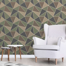 Camouflage Geometric Wallpaper in Room
