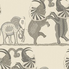 Cole and Son Grey Dancing Elephants Wallpaper