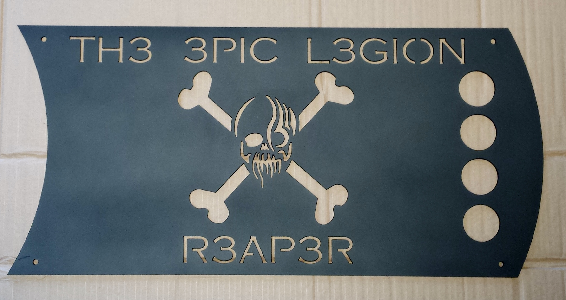 Custom Skull-n-crossbones Sign