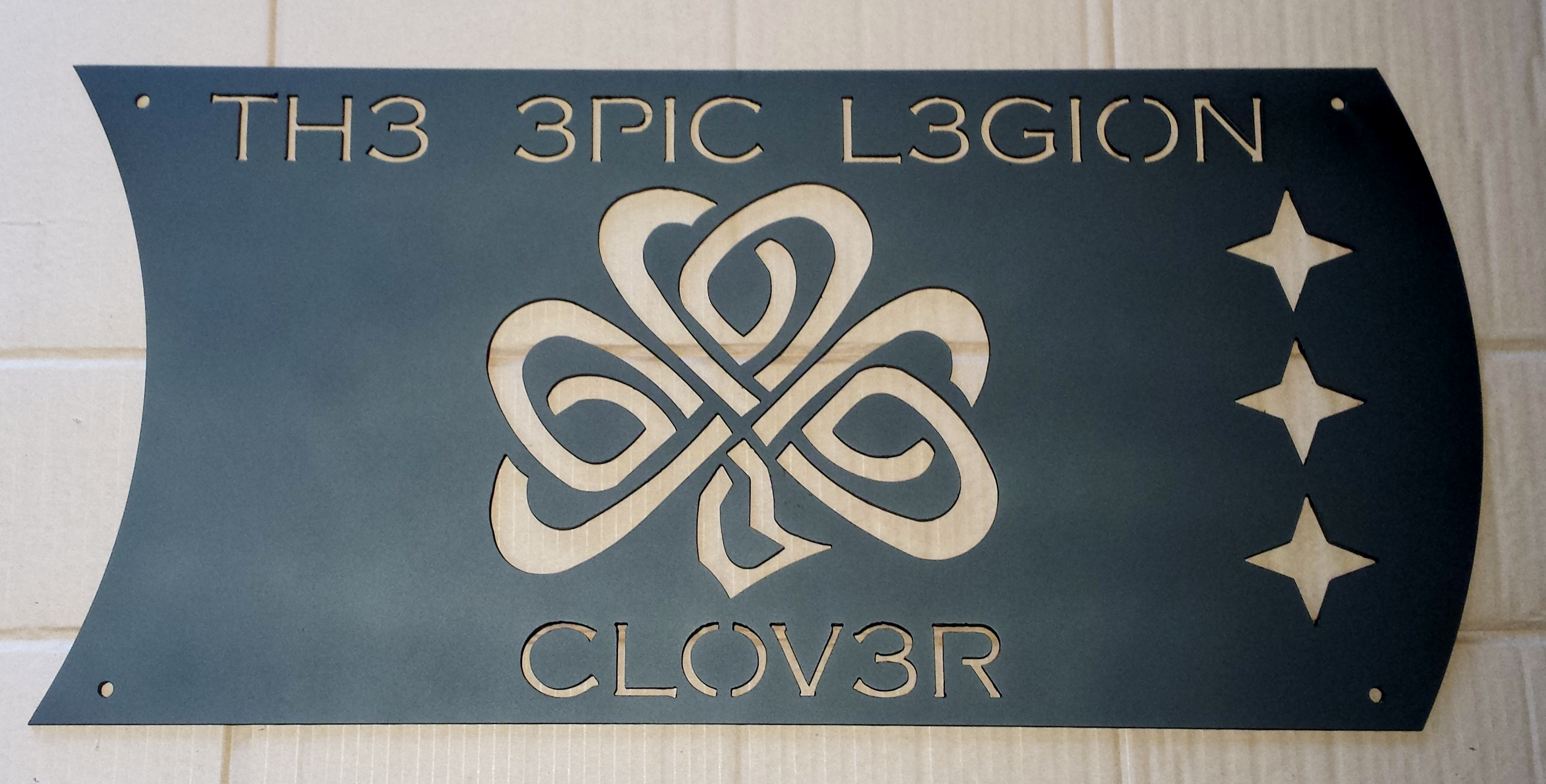 Custom Clover Sign