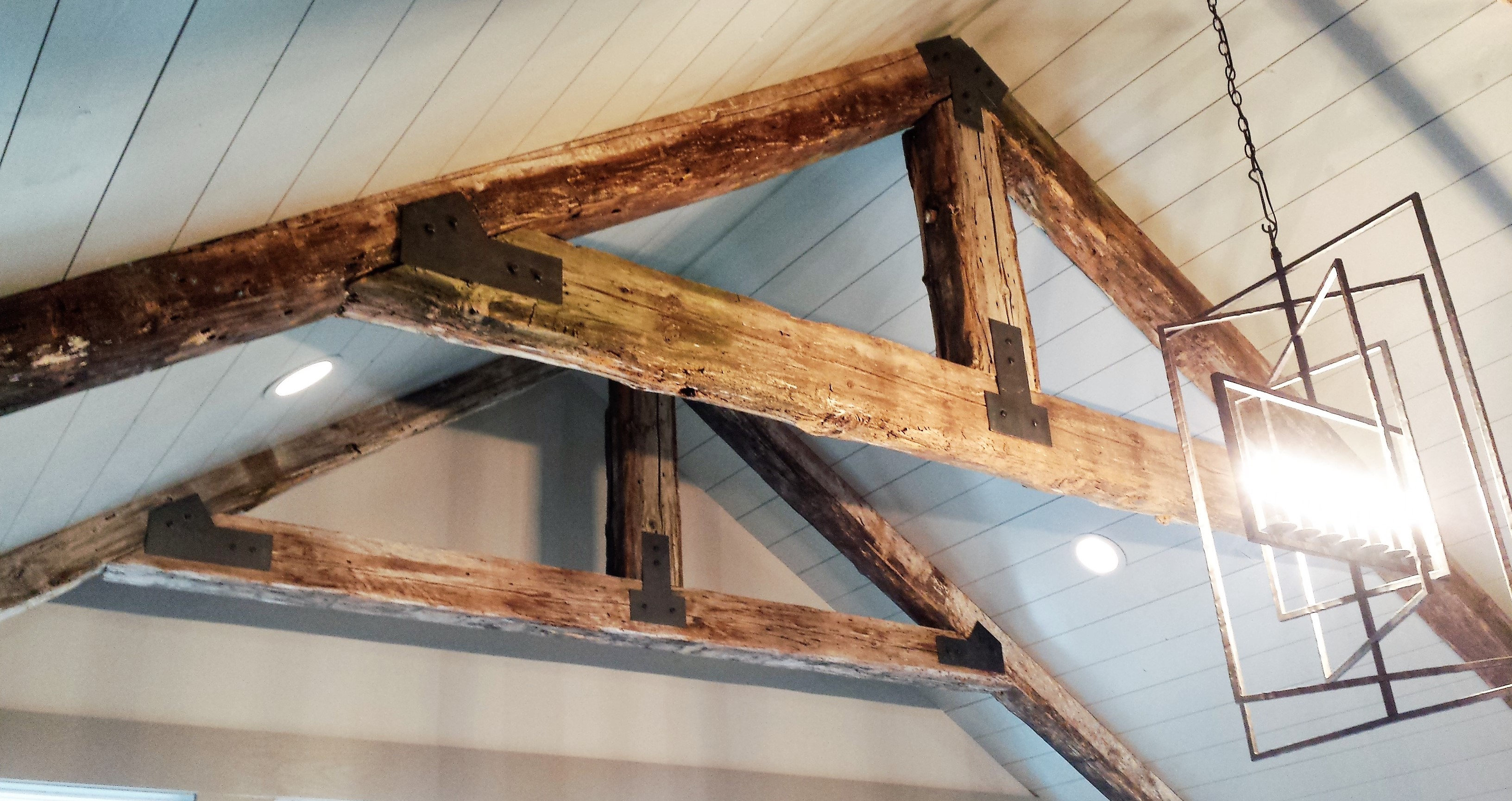 Reinforce Roof Beams Amp Inside View Of Trusses