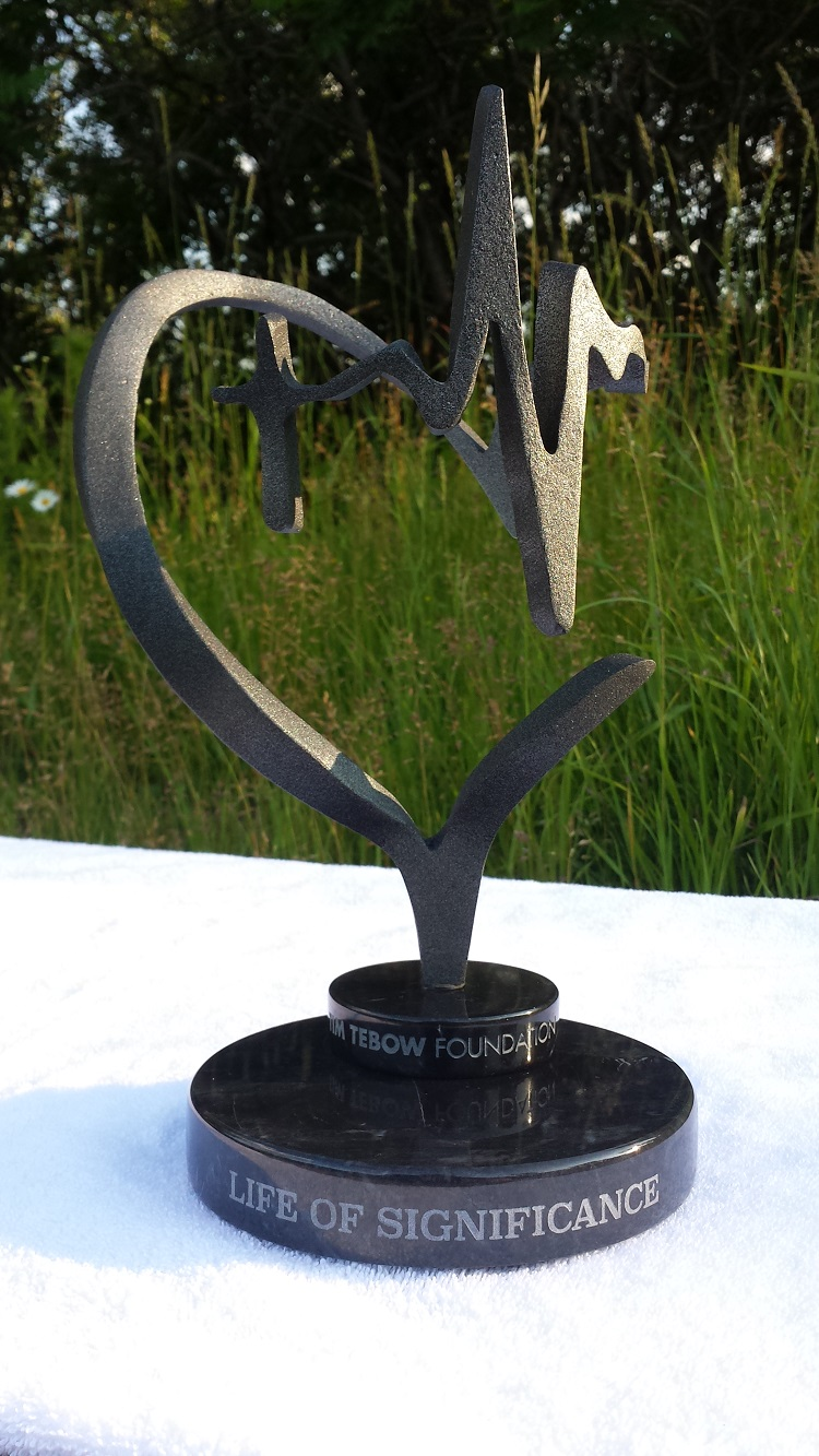 Custom Marble Pewter Trophy