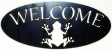 Welcome Sign With A Frog