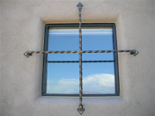 Twisted Steel Window Cross
