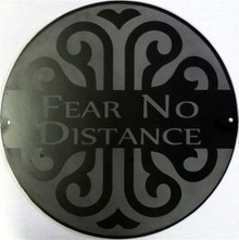 Fear No Distance Decorative Wall Plaque