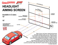 Headlight Aiming Screen - 10 Foot